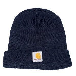 Blue Carhartt Workwear Foldover Beanie Watch Hat